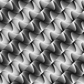 Design seamless monochrome waving pattern — Stock Vector
