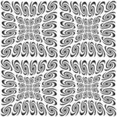 Design seamless monochrome spiral movement pattern — Stock Vector