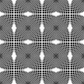 Kesintisiz tek renkli geometrik desen tasarım — Stok Vektör