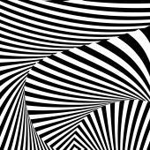 Design monochrome convex movement illusion background — Stock Vector