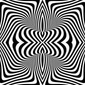 白黒の渦運動錯覚背景をデザインします。 — ストックベクタ