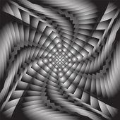 Design monochrome twirl movement illusion background — Stock Vector