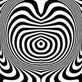 Design monochrome swirl movement illusion background — Stock Vector