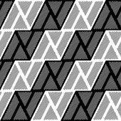 Design seamless monochrome triangle geometric pattern — Stock Vector