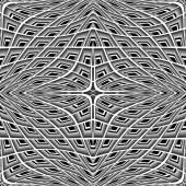 Design monochrome warped grid pattern — Stock Vector