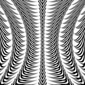 Design warped monochrome vertical decorative pattern — Stock Vector