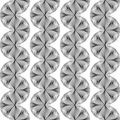 Design seamless monochrome waving geometric pattern — Stok Vektör