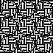 Design seamless monochrome ellipse geometric pattern — Stock Vector