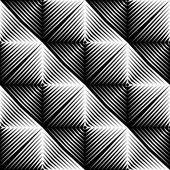 Design seamless square convex pattern — Stock Vector
