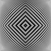 Design monochrome geometrical illusion background — Stock Vector