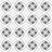 Design seamless monochrome twirl movement background — Stock Vector