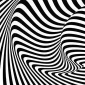 Design monochrome movement illusion background — Stock Vector