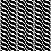 Design seamless monochrome interlaced pattern — Stockvector