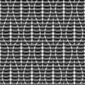 Design seamless monochrome twisting pattern — Stock Vector