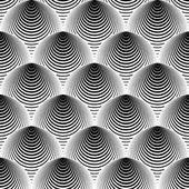 Design seamless monochrome cone illusion background — Stock Vector