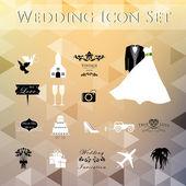 Wedding Planner Icons — Stock Vector