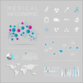 Medical, health and healthcare icons — Stock Vector