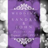 結婚式のカードや招待状 — ストックベクタ