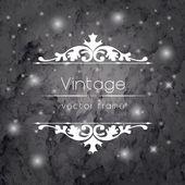 Vintage floral frame. — Stock Vector