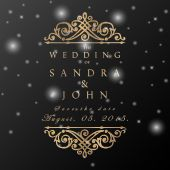 Wedding card in vintage style — Stock Vector