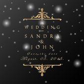 свадьбу в винтажном стиле — Cтоковый вектор