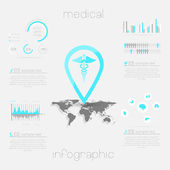 Medical, health and healthcare icons — Vetor de Stock