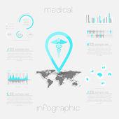 Sjukvård, hälsa och sjukvård ikoner — Stockvektor