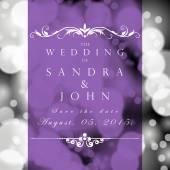 Wedding card or invitation — Stock Vector