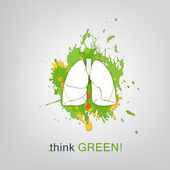 Think green. Save world — Wektor stockowy