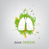 Think green. Save world — Stock Vector