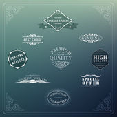 Retro elements for calligraphic designs — Vector de stock