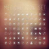 70 medical icons for web — Stock Vector