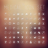 70 medical icons for web — Vetor de Stock