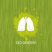 Go green. Save world. — Wektor stockowy