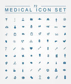 Set of   medical web icons — Stock Vector