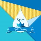 Abstract  logo template for spa, Yoga — Stock Vector