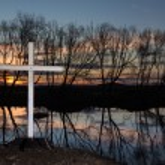 Sunset Winter Cross — Stock Photo #51888265