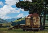 Railway Crane Resting — Stok fotoğraf