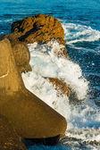 Man Made Wave Breaker — Stock Photo