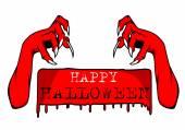 Halloween sign. Vector illustration. — Stock Vector