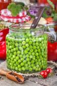 Canned peas — Stock Photo