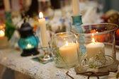 Hochzeit Tischdekoration — Stockfoto