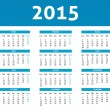 2015 calendar in blue halftone style (Monday to Sunday) in Spani — Vecteur #53331923