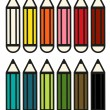 Set of 12 colorful pencils — Stock Vector #53331937