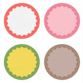 Set of 4 blank badges — Stock Vector