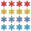 4 sets of 4 isolated snowflakes — Stock Photo #59586083