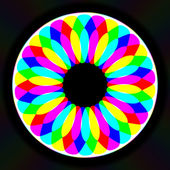 Цветочная иллюстрация неона caleidoscopic — Стоковое фото