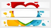Set of 3 colorful full banners — Stock Vector