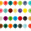 Colorful balloon font — Stock Vector #64012823