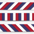 Collection of 3 striped banners in official colors of USA — Stock Vector #64344511